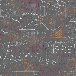 Math Lessons (Maroon and Orange)