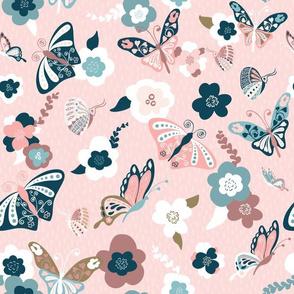 Beautiful Butterflies-Pink-150