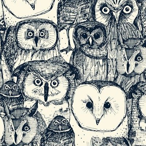 just owls indigo pearl