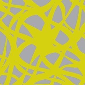 Crossed Waves-Yellow/Gray