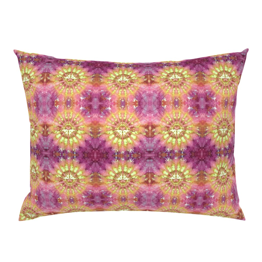 Campine Pillow Sham featuring Kaleidoscope Burst Orange & Fuchsia by nancygamon