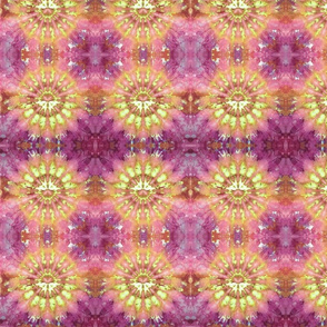 Kaleidoscope Burst Orange & Fuchsia