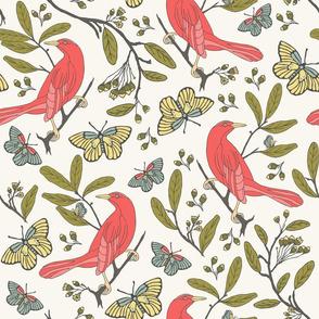 Bird & Butterflies - H White
