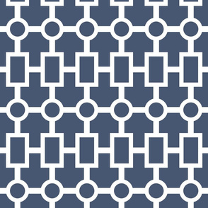geometric chain in navy