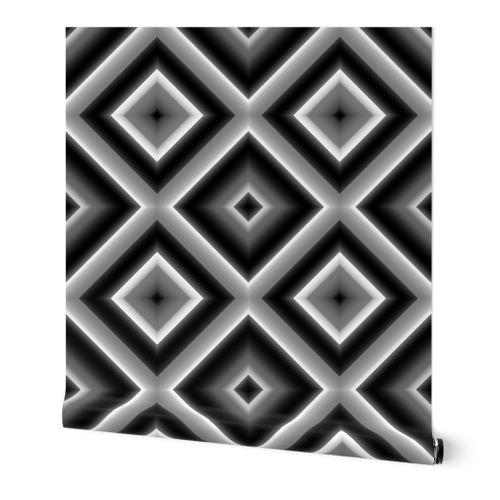 Black And White Diamond Illusions Spoonflower