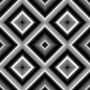 Black and White Diamond Illusions