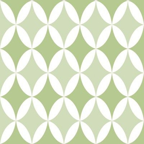 LIGHT GREEN, MEDIUM GREEN, WHITE, DIAMONDS