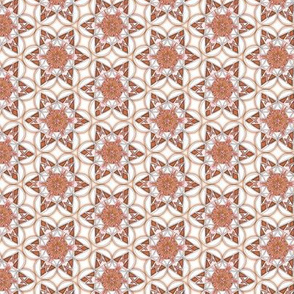 small snowflake hexagons in brown