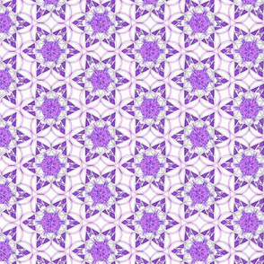 small snowflake hexagons in purple