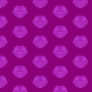 Purple Bijon Frise Pattern