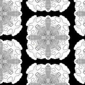 Cityscape Mandala Pattern