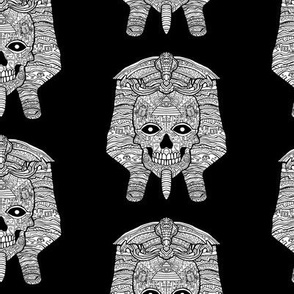 Egyptian Pharoahe Sugar Skull Pattern