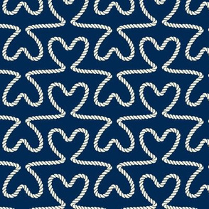 Rope Heart Shapes - Nautical Pattern