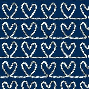 Rope Hearts - Nautical Pattern
