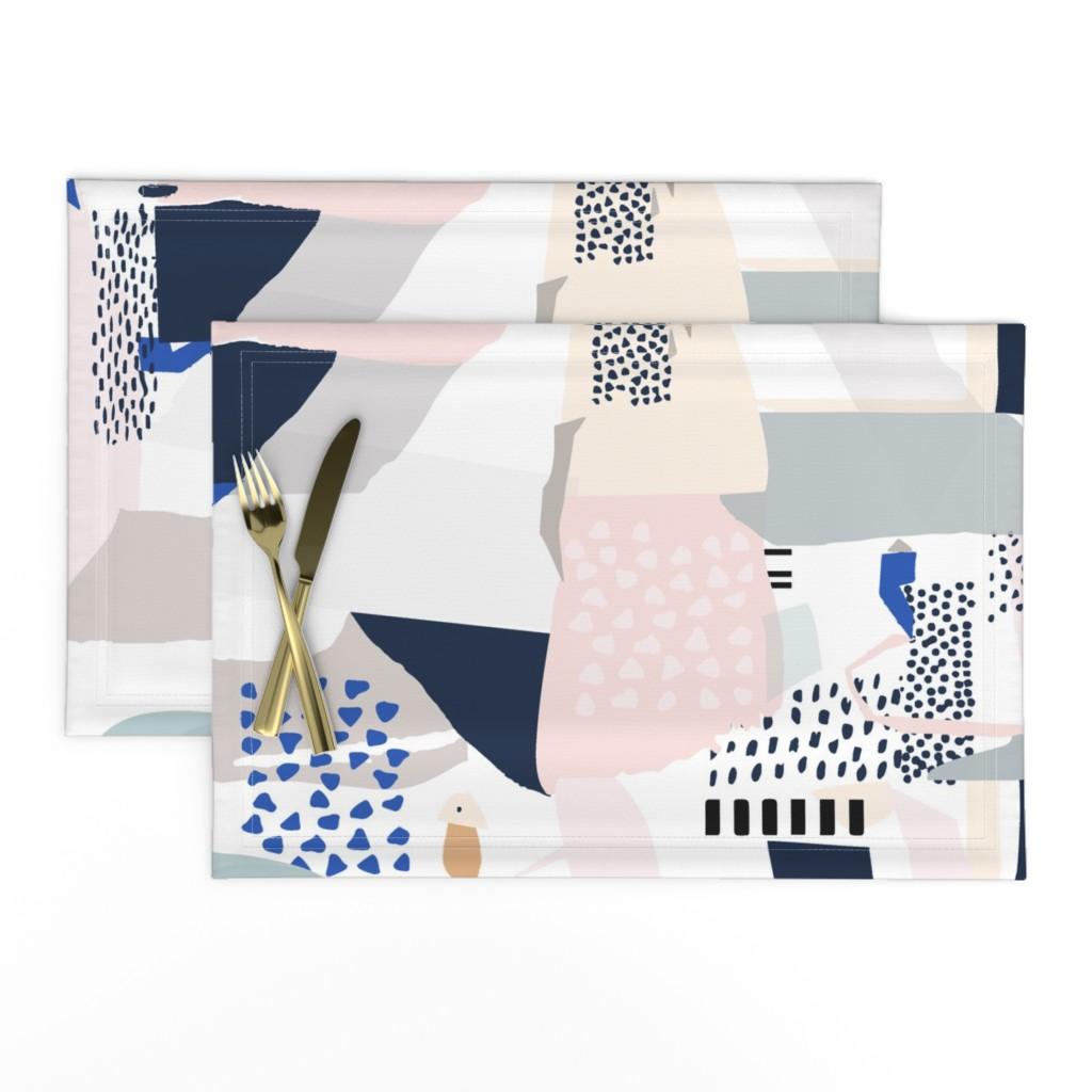 Lamona Cloth Placemats featuring bauhaus movement by mint_tulips