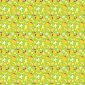 Tropical Toucans Bright Green