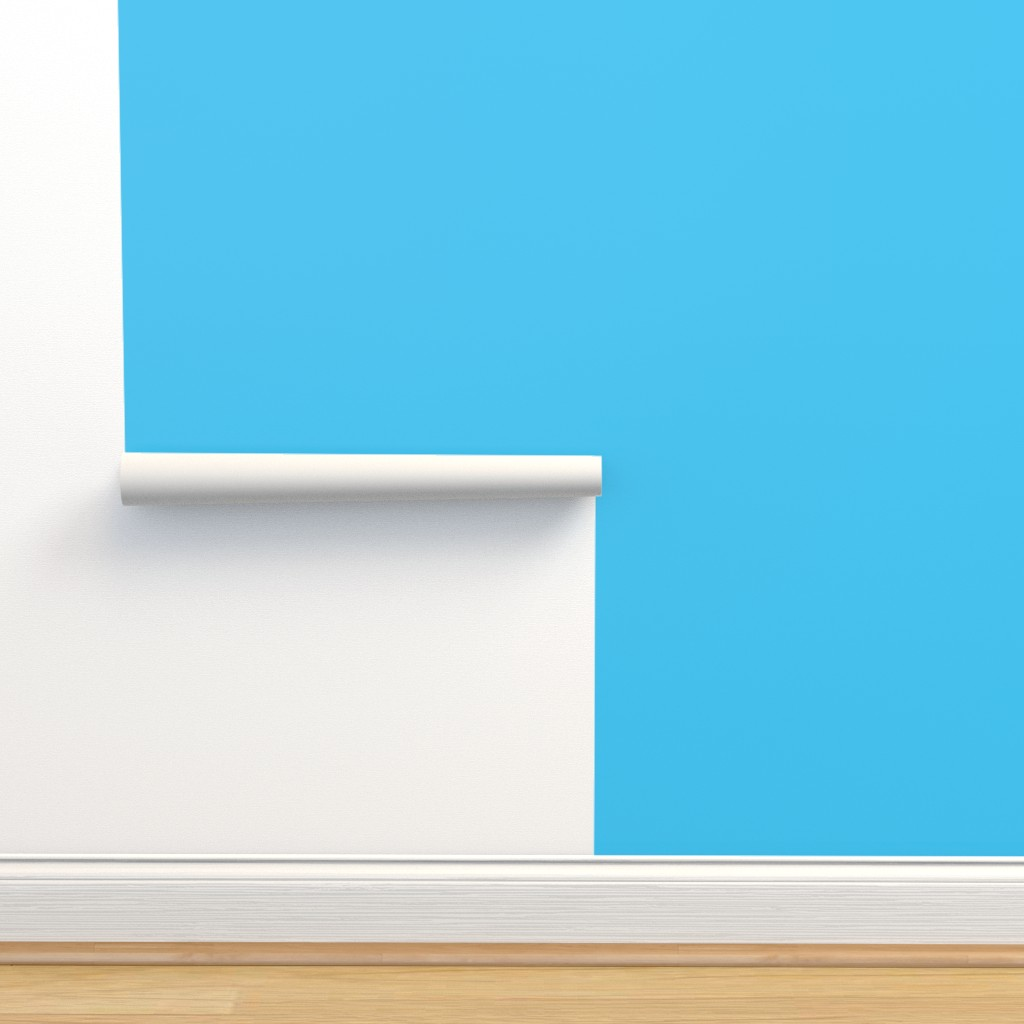 Isobar Durable Wallpaper featuring sky blue aqua turquoise solid color coordinate blender by amy_g