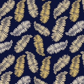 Gold and Navy Palms