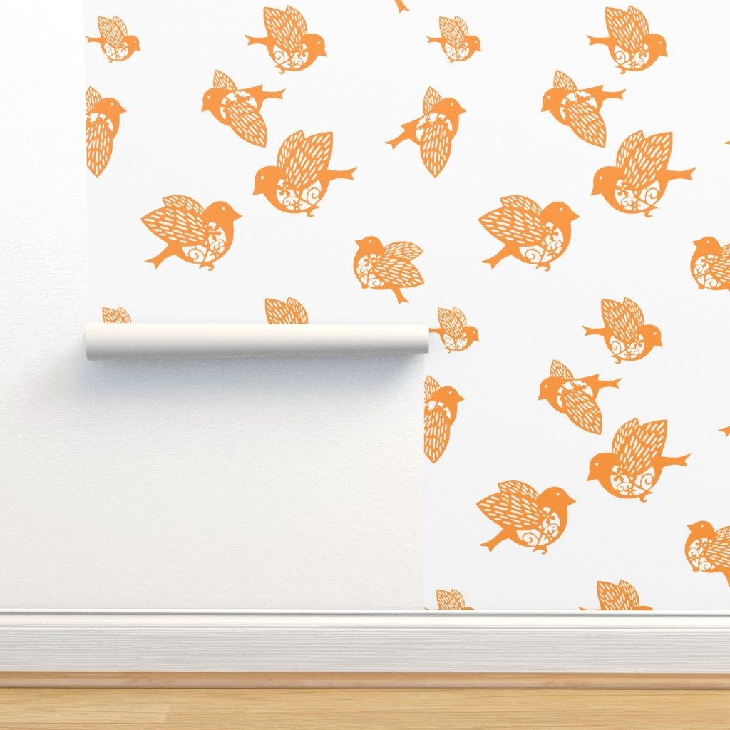 Isobar Durable Wallpaper featuring Sparrow orange 02 by chicca_besso