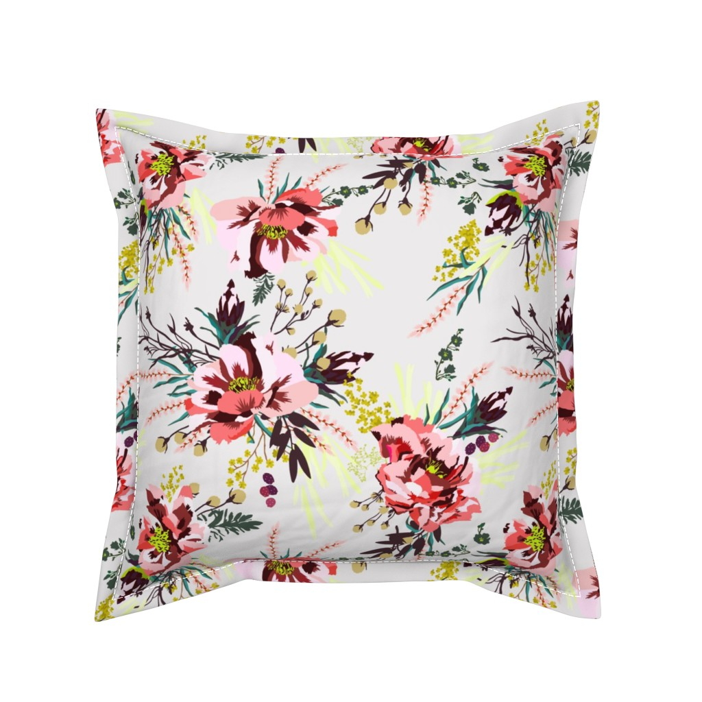 Serama Throw Pillow featuring POPPY WILD SUNSHINE by holli_zollinger
