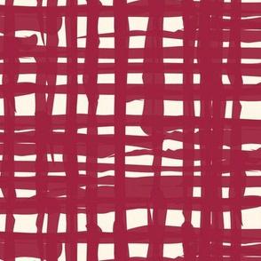 Red Cream Textured Grunge Solid _ Miss Chiff Designs