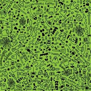 Halloween Doodles Green