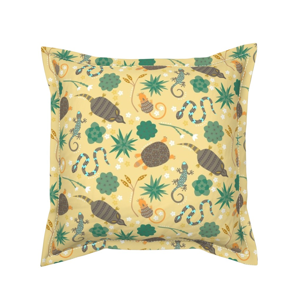 Serama Throw Pillow featuring Animals of the desert by sarahparr