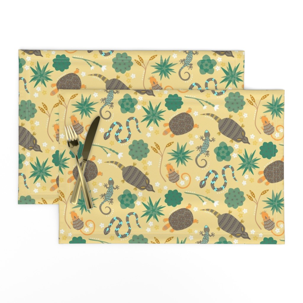 Lamona Cloth Placemats featuring Animals of the desert by sarahparr