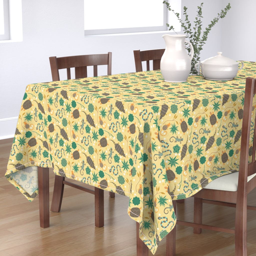 Bantam Rectangular Tablecloth featuring Animals of the desert by sarahparr
