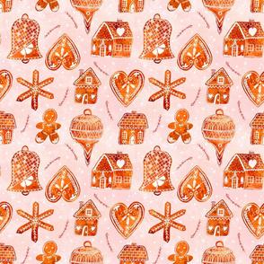 pink gingerbread