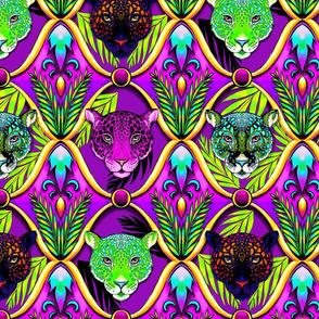 neon jungle jaguar ogee MEDIUM scale