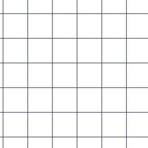 """2"""" Grid in Navy"""