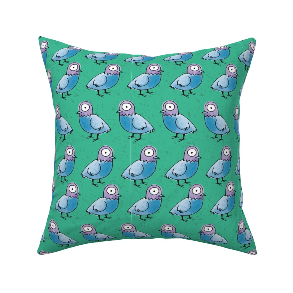 Catalan Throw Pillow featuring Pigeon Walk - reduced by lalaliz