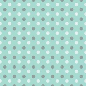Sketched Spots on Blue Background