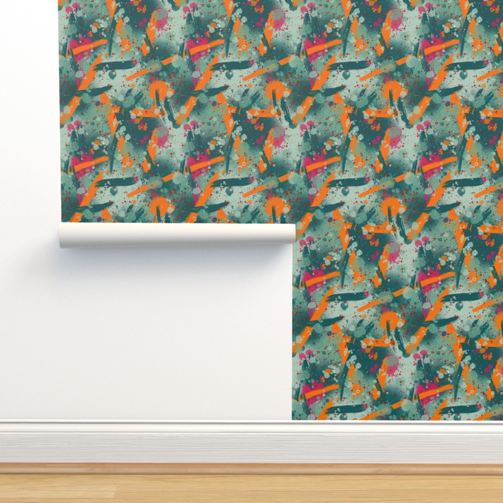 Isobar Durable Wallpaper featuring Artist palette paint splatter by new_branch_studio