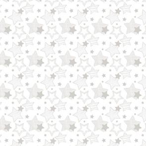 Stars - White & Grey