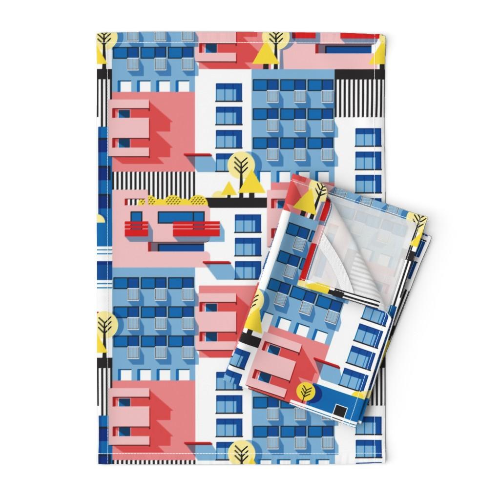 Orpington Tea Towels featuring Bauhaus by nanamira