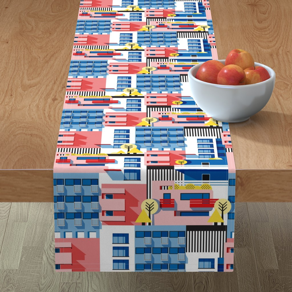 Minorca Table Runner featuring Bauhaus by nanamira