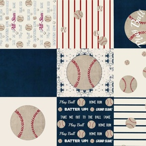 baseball quilt 21 - wholecloth