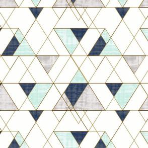 Mod Triangles Vintage_Navy Mint_white