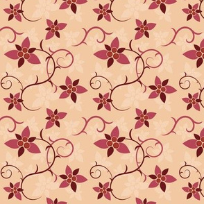 Floral Pattern in Retro Style
