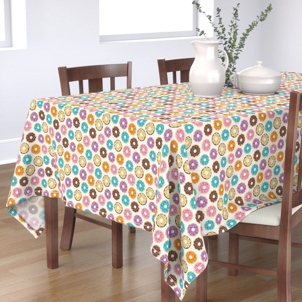Bantam Rectangular Tablecloth featuring Donuts by malibu_creative