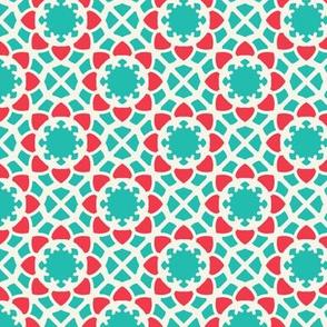 Mosaic Oriental Geometric Pattern