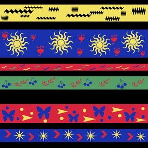 Patterned Bright Stripes
