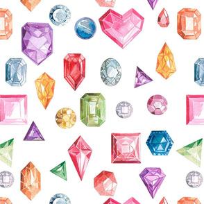 Luxurious pattern of precious stones