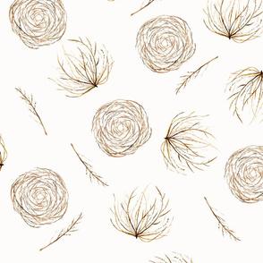 Seamless Tumbleweeds and Twigs