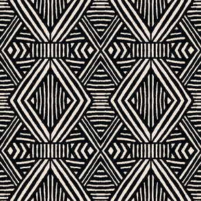 Tribal Geometric BW rotate