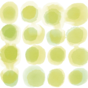Watercolor Large Spot Olive