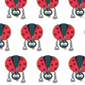 Сhildren's seamless pattern with stylized ladybirds