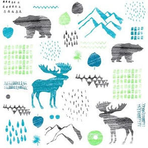 Pattern with northern animals